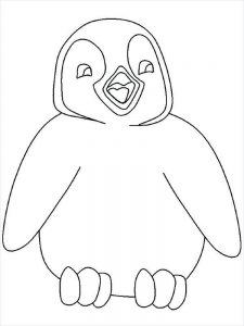 Coloring Pages With A Penguins