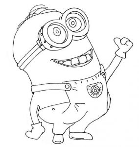 Coloring Pages for Girls Online Minion