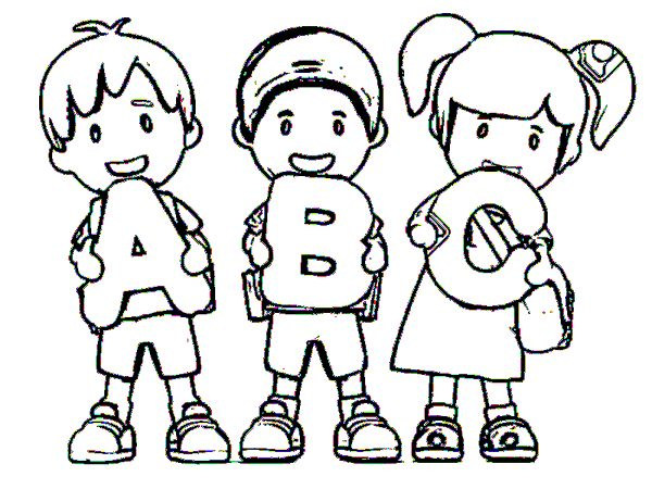 Coloring pages for kids back to school