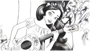 Coloring sheet Elena of Avalor