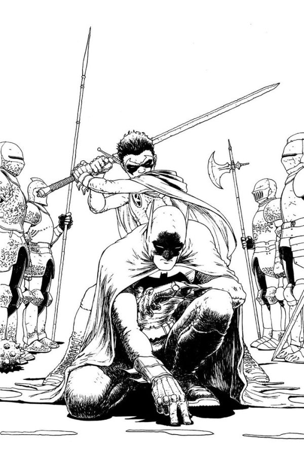 Comic book batman and robin coloring pages