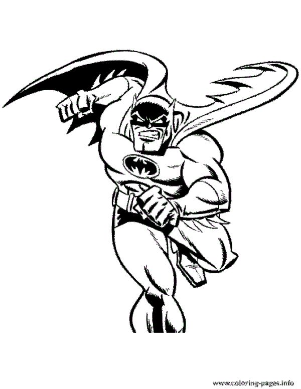 Cool Batman Cartoon Coloring Pages Printable