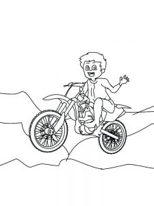 Cool Motorcycle Coloring Pages