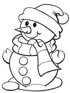 Cool Snowman Coloring Page