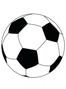 Cool Soccer Ball Coloring Page