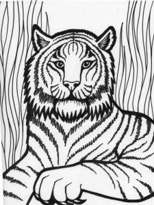 Cool Tiger Black and White