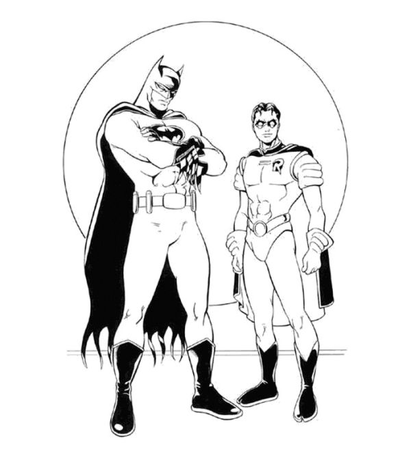Cool batman and robin coloring pages