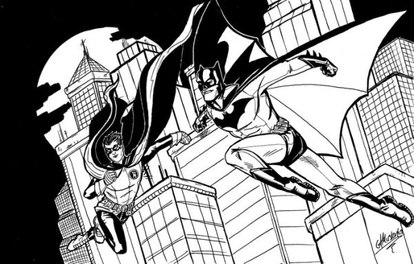 Cool gotham city batman and robin coloring pages