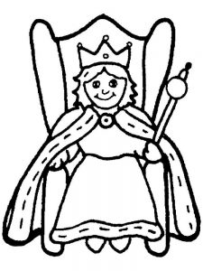 Cupcake Queen Coloring Page