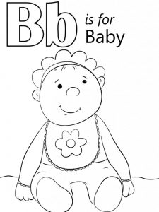 Cute Baby Coloring Pages Print pdf