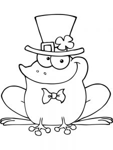 Cute Baby Frog Coloring Pages