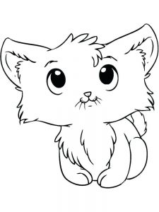 Cute Baby Kitten Coloring Pages