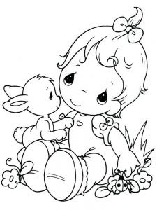 Cute Baby pdf Coloring Pictures