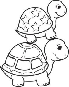 Cute Baby turtle coloring sheet