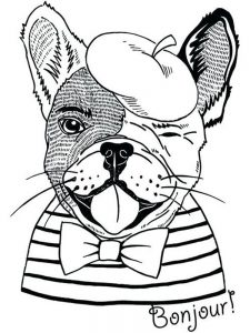 Cute Bulldog Coloring Pages