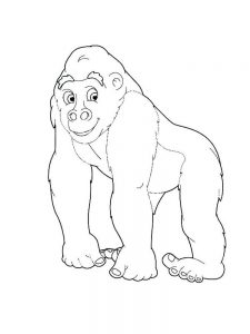 Cute Coloring Pages Of Gorillas