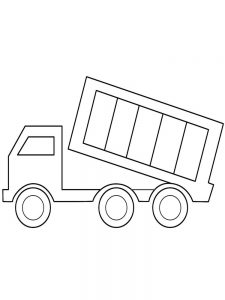 Cute Dump Truck Coloring Page
