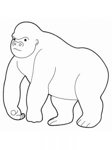 Cute Gorilla Coloring Pages