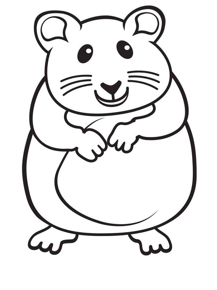 Cute Hamster Coloring Pages Printable