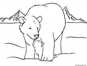 Cute Polar Bear Color Pages To Print