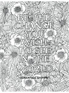 Cute Quote Coloring Pages