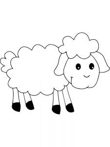 Cute Sheep Coloring Pages