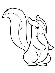 Cute Skunk Coloring Pages