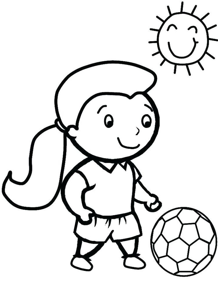 Cute Soccer Ball Coloring Pages