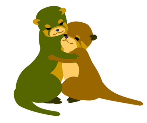 Cute couple otter image