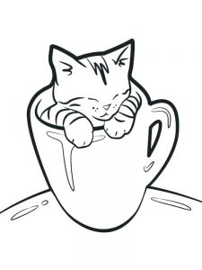 Cutest Kitten Coloring Pages