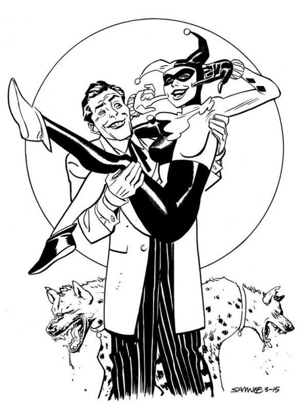 DC Comics Mad Love Harley Quinn coloring page