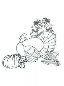 Dancing Turkey Coloring Pages