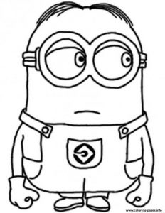 Dave The Minion Despicable Me Sc Coloring Pages Printable