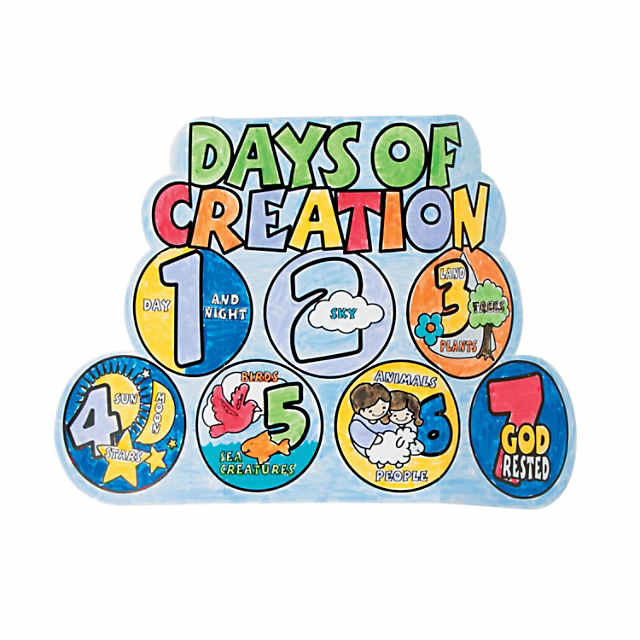 Days Of Creation Coloring Pages For Adults