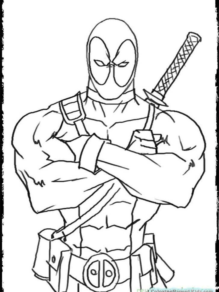 Deadpool Coloring Book Pages