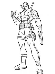 Deadpool Coloring Pages Cartoon