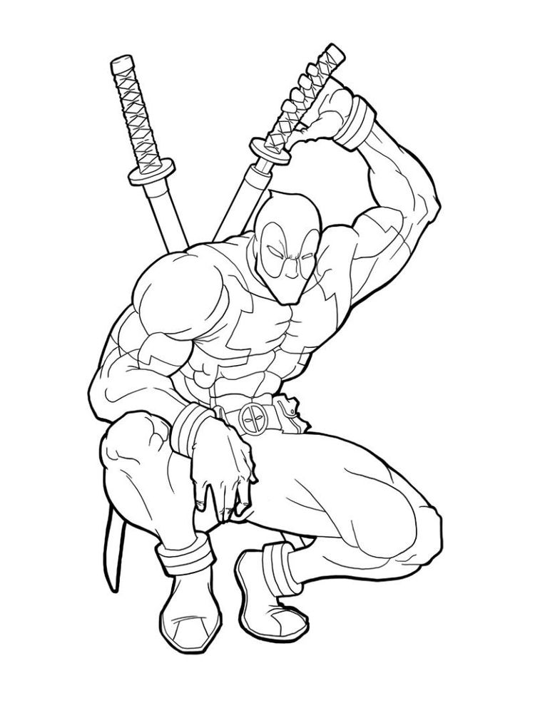 Deadpool Coloring Pages Printable