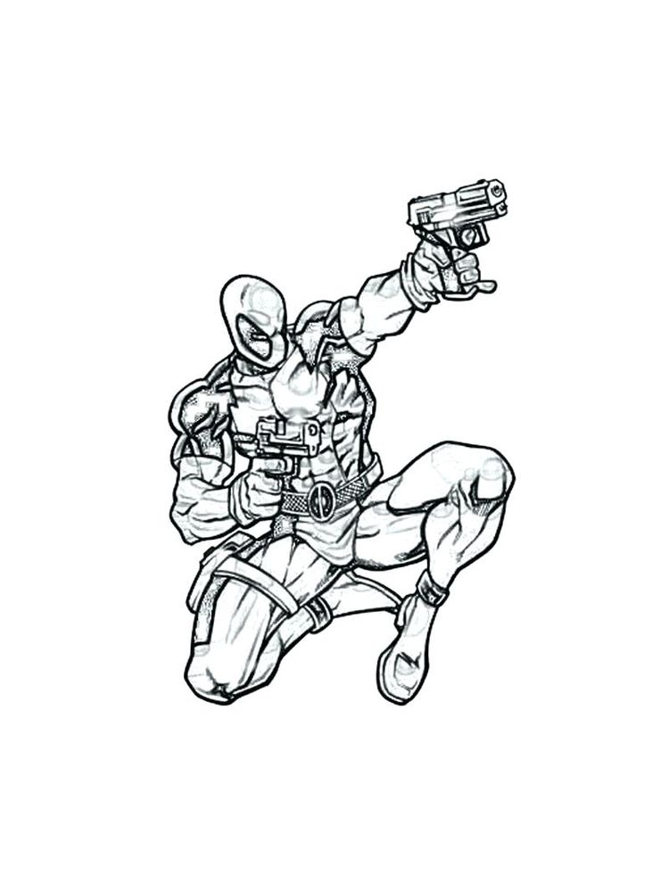 Deadpool Face Coloring Pages