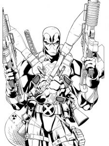 Deadpool Spiderman Coloring Pages