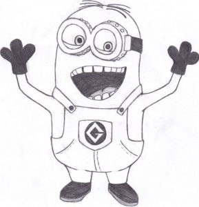 Despicable Me Minion Coloring Sheet