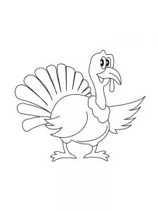 Detailed Turkey Coloring Pages