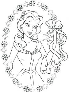 Disney Belle Coloring Pages To Print