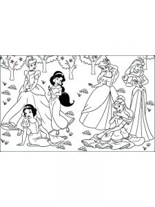 Disney Princesses Christmas Coloring Pages