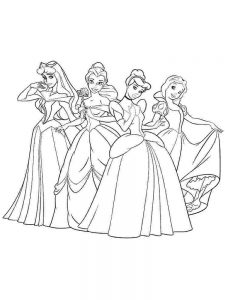 Disney Princesses Coloring Pages Belle