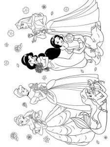 Disney Princesses Coloring Pages To Print For Free