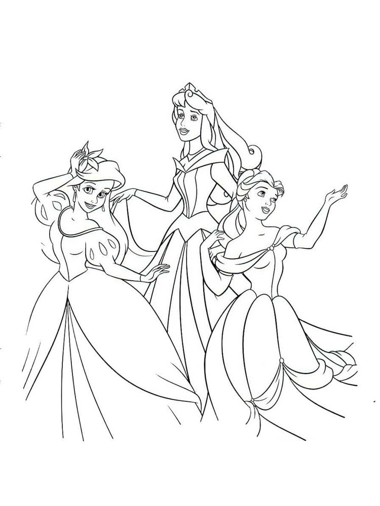 Disney Princesses Coloring Pages To Print