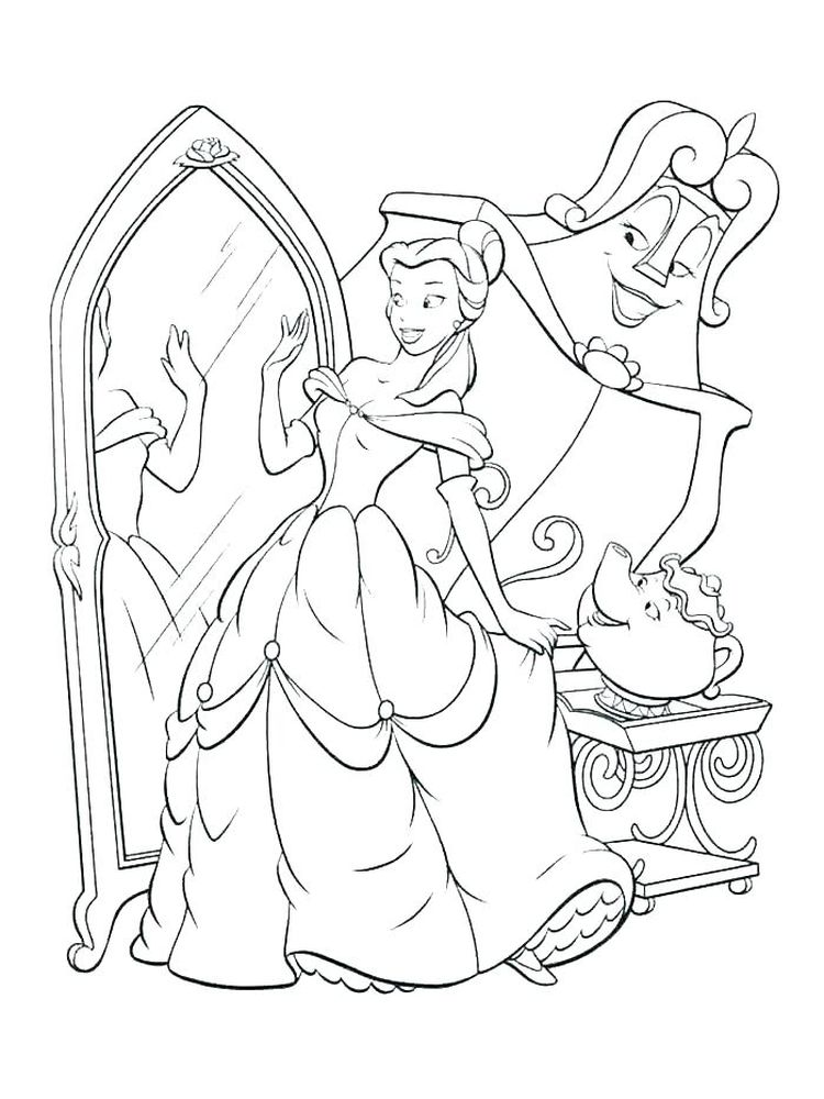 Disney Princesses Colouring Pages Printable