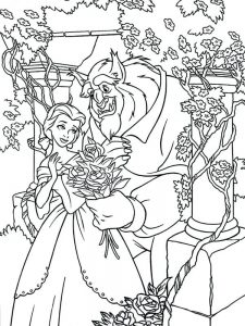 Disneyclips Beauty And The Beast Coloring Pages