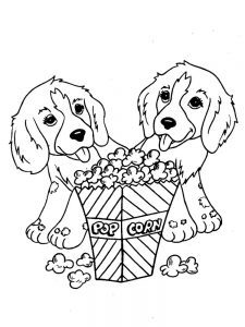 Dog And Puppy Coloring Pages 1
