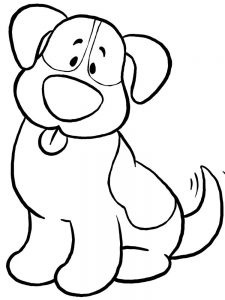 Dog Coloring Pages Cute